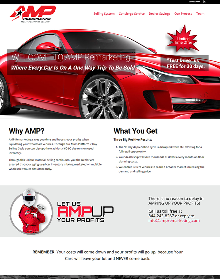 AMP Remarketing web design